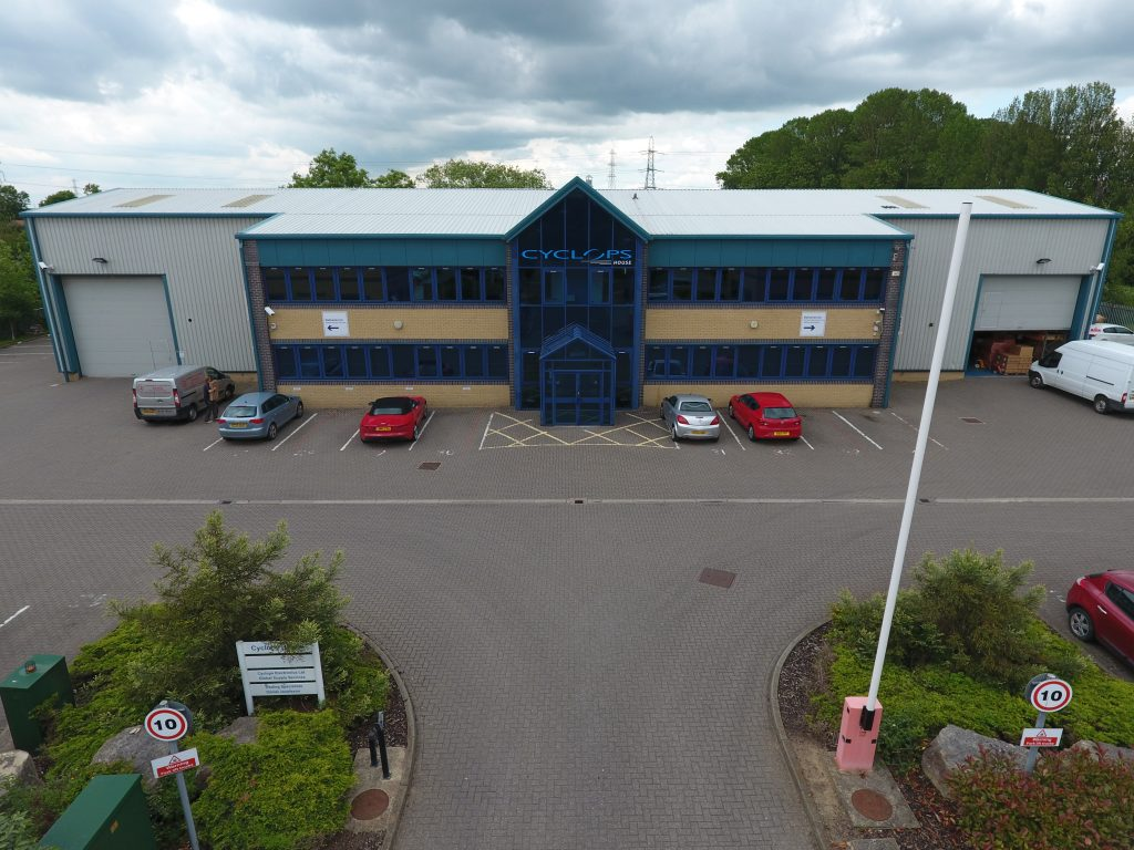 Aerial view of Cyclops office York