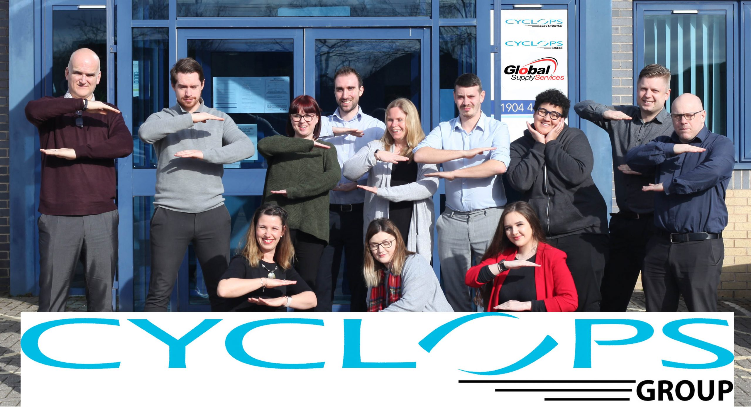 Cyclops Group Photo with logos for International Women's Day